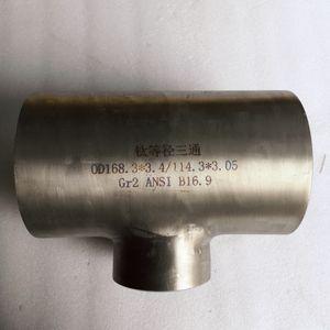 Titan-Rohrfittings Ellbogen-Titan-T-Reduzierstück in Rohrfitting Bester Preis ASTM B363 Titan-Gr2-Rohrfittings für die chemische Industrie
