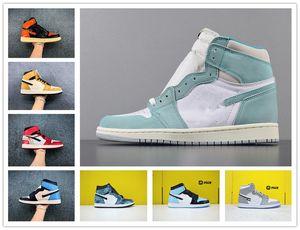new Mens basketball shoes 1s high og Obsidian Royal Toe UNC Tie Dye Pine Turbo Green Bloodline 1 men women trainers sports sneaker