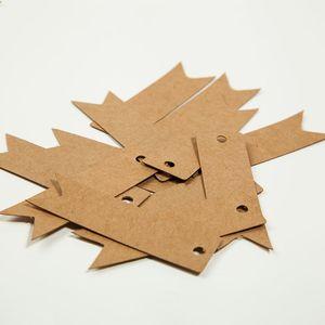 500 stücke 6 * 2 cm unregelmäßige leere kraftpapier karte hängen tags schwarz karton preisschild neue paket handgemachtes geschenk hängen tags