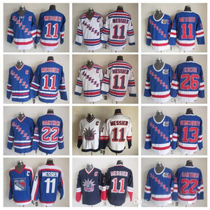 New York Rangers 22 Mike Gartner Jersey Men Vintage Classic 11 Mart Messier 13 Sergei Nemchinov 26 Joe Kocur 75-я хоккейные изделия