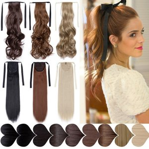 """Synthetic Ponytails S-noilite 18\"""" wavy drawstring clip in ponytail hair extension false tail hair hairpiece synthetic ponytail for women"""