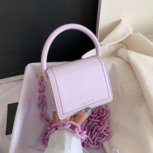 NUEVA original diseño de moda bolsa de la plaza cadena elegante bolso crossbody anchura de los hombros 13 cm Altura 11 cm de espesor de 6 cm