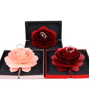 هدية حلوة وردة زهرة صندوق الزفاف خواتم الخطبة صندوق مفاجأة مجوهرات حامل التخزين الزفاف الزواج المخملية عيد الحب