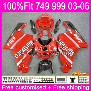 Kit d'injection Pour DUCATI 749-999 749S 999S 749 999 03 04 05 06 Body 33HM.18 749 999 S R 749R 999R 2003 2004 2005 2006 Carénage Rouge Nouveau Cool