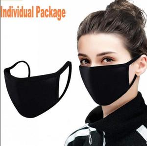 Designer Fashion Cotton Face Mask Nero Dust Antipolvere PM2.5 Maschere viso Maschere lavabili Maschere riutilizzabili Anti polvere Traspirante Mascherinefy9043