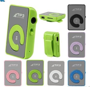 Hotsell HOT Mini Clip Mirror USB MP3 Support 8GB Portable Digital Music Media Player Micro SD TF Card Slot C Shape Sports MP3