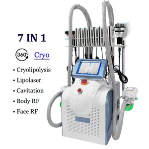2020 New Cryo Fat Gefriermaschine 7 Griffe Cryolipolysis Criolipolisis Bauchfett Freeze-Buttock Lifting 360 Kryotherapie Vacuum Abnehmen