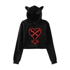 Kingdom Hearts Cat Ear Hoody Women New Sale Quality Sweatshirt Pullovers Lovely Team Korean Kingdom Hearts Hoodies Casual Tops