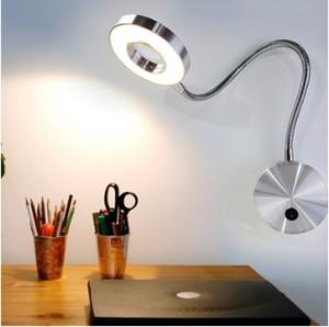 5 W Mangueiras LED Lâmpada de Parede Flexível Home Hotel Lâmpada de Leitura de Cabeceira Luz da parede Moderna Moda Livro Luzes Interior Alumínio Lâmpadas LED