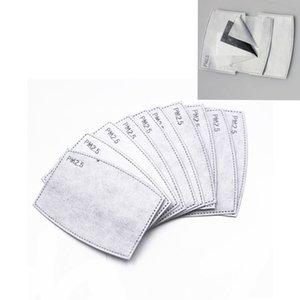 5Layers Değiştirilebilir Maske Toz önleyici PM2.5 FFA4197 Filtreler Ağız maskeler Filtre yastığı Aktif Karbon Yüz Maskesi Filtre Ekle maske