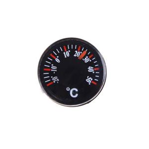 2 pezzi Diametro 20mm rotondi di plastica Mini Termometro Mini Spirito circolare Thermograph Celsius Hydrothermograph