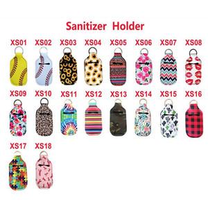 Key Rings Hand Soap Bottle Holder Neoprene Hand Sanitizer Bottle Holder Keychain Bags 10*6CM Customized Service WCW914
