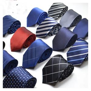Erkekler Kravatlar Kravat erkek Iş Düğün Kravat Erkek Elbise İngiltere Çizgili JACQUARD DOKUMU 8 cm