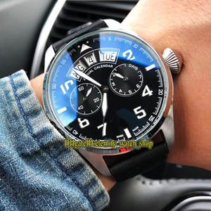 3 Farbe New IW502703 Pilot Kleiner Prinz-Stahl-Gehäuse Schwarz Multifunktions-Dial Big Day Date Automatik Herren-Uhr-Lederband Sportuhren