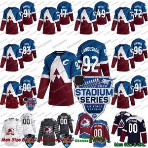 92 Gabriel Landeskog 2020 Série Stade Colorado Avalanche Ian Cole J. T. Compost Jayson MEGNA JOONAS DONSKOI Kevin Connauton Hockey Jersey