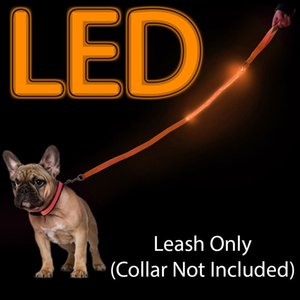 Led Light Up Dog Leash, durable, Lightweight.dog Leash Led Pet Up Collier de sécurité lumineux clignotant en nylon réglable