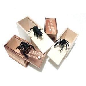 مفاجأة العنكبوت صندوق خشبي مضحك نكتة المزحة الحيوان لعب الإرهاب صعب لعبة صالح ديكورات المنزل الجديد EEA1028 وصول