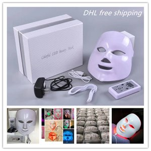 Mask Led Shipping Therapy Anti Free Facial Light Photon 7 Face Wrinkle Machine Mask Therapy Acne Beauty Colors DHL Led Ooxxs