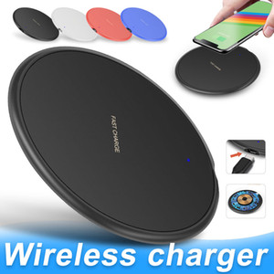 10W Fast Wireless Charger For iPhone 11 Pro XS Max XR X 8 Plus USB Qi Charging Pad for Samsung S10 S9 S8 S7 Edge Note 10 with Retail Box