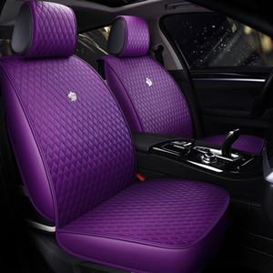 Cuoio Auto Car Seat Covers formato universale Copertine automobile per Toyota Hyundai Kia Lexus BMW Mercedes impermeabile 4 colori