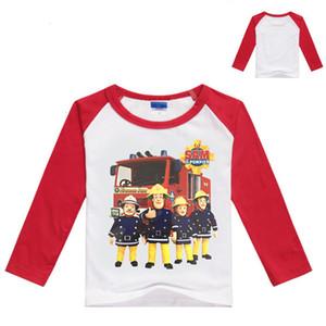 Limpie la camisa del hombro Bombero Sam Impresión de dibujos animados 7153 Camisetas