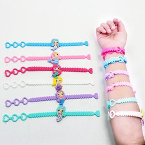 Cartoon Mermaid PVC del braccialetto regolabile dei braccialetti del polsino di modo per il regalo del braccialetto bambini