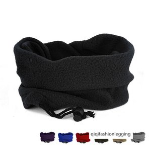 Outdoor fleece scarf men's and women's turtleneck winter multi-functional head cover warm mask turtleneck hat men's multi-purpose