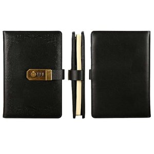 Vintage A5 password libro con blocco Diario password Diario di Viaggio ufficiale Taccuini Affari Agenda Planner organizzatore Notepad
