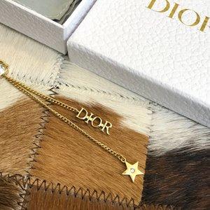 Ladies colar de pingente de senhoras designer de jóias retro romântico letras elemento su com colar de estrelas pendant design tamanho ajustável