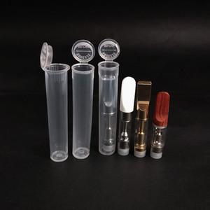 Plastik Şeffaf Tüp Konteynerleri için Kartuş Bud Atomizer Ambalaj 1ml Childproof Ambalaj Vaporizer Cam Kartuş PP Tüp 0.5ml