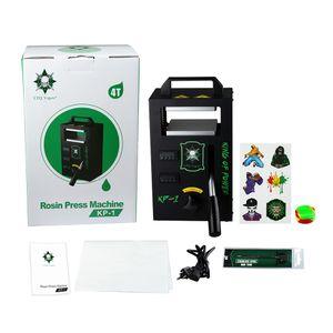 Máquina de prensado de resina KP-1 auténtica por LTQ Vapor KP1 Cera DAB Exprimidor de temperatura Kit de herramienta de extracción ajustable Prensador con 4 toneladas DHL