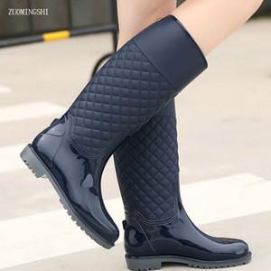 2018 nouvelles bottes de pluie femmes dame rainboots italianisant Pvc en caoutchouc dame rainboots chaussures imperméables