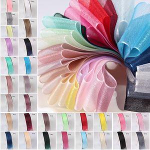 Сатин Оберточные ленты 100 Yard / рулон 6мм DIY Подарочная упаковка ленты Свадьба Декоративные ленты органза ленты 29 Цвет