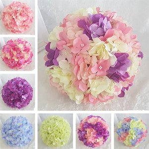 Hanging Decorative Flower Ball Centerpieces Silk Hydrangea Wedding Kissing Balls Pomanders Mint Wedding Decoration Ball