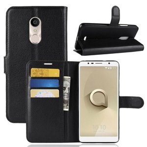 For Alcatel 3C Litchi Texture Horizontal Flip Leather Case with Wallet & Holder & Card Slots
