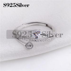 HOPEARL i risultati dei monili fai da te Donna Solid 925 Sterling Silver Cuore Cut Cubic Zirconia Eternity Solitaire Engagement Ring 3 Pezzi