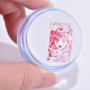 Silicone Nail Stamper Rectangle Seal Stamper Silicone Clear Art +Nail Scraper Stamping Segents