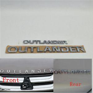 Для Mitsubishi Outlander переднего капота эмблемы заднего Магистральные Tailgate Логотип Символ Decal