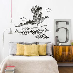 20190621 nova parede de tinta Eagle com estilo chinês alpendre gabinete de escritório areia para TV fundo decoração