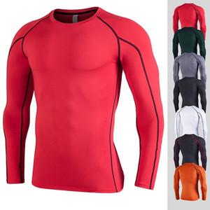 Shirts Laufen trocken fit Mens Turnhalle Kleidung mit Rundhalsausschnitt mit langen Ärmeln yldiyo Unterwäsche Body Building suiit Polyester ap pel