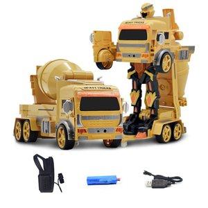 1:12 Gesture-sensing Remote-controlled Deformation Car Mixer Truck Excavation Dumper Engineering Vehicle 2.4GHz RC Robot Car