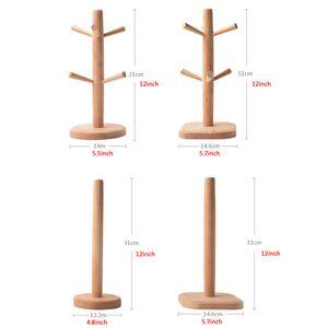 Six Griffe Beech Porte-gobelet Porte-papier en bois rond carré Porte-Bas Tasse à café Égouttoir Accueil tasse d'eau Rack de stockage DBC VT1576