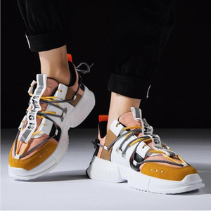 Homme Hip Hop Chaussures montantes Printemps Gz coloré Kanye Chunky Cross Sneakers Tied Tenis Chaussures respirantes Casual Zapatos Hombre