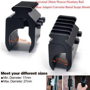 Avcılık 20mm Weaver Picatinny Demiryolu Bankası Adaptörü Tüfek Varil Dağı Kapsam Dönüştürücü Lazer Sight Fener Mounts