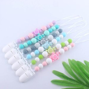 Ins new Silicone Baby Pacifier Chain Infant Baby Gracious Pacifier Holder Baby Teething Newborn Pacifier Chains Chew Toys