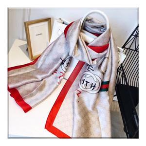 2019 NEW Seidenschal für Frauen, Frühling, Sommer Europeandesign grün rot Schal Wrap mit Tag 180x90cm Tüchern