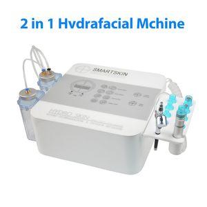 2 en 1 HydraFacial Máquina Venta Hydra facial oxígeno del agua Sistema de Jet Peel máquina para Cuidado de la piel de limpieza profunda Equipo para Spa