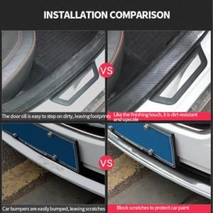 Автомобильная наклейка для двери для дверцы защитника автомобиля укладки углеродного волокна дверной пластины потертости защиты автомобилей аксессуары двери ступеньки царапин