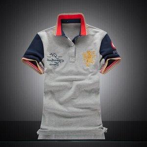 Yüksek kaliteli sıcak satış Erkek Erkek Polo T Shirt% 100 Pamuk Müşteri Fit Kısa Kollu Takım Gömlek Tüm Boyut