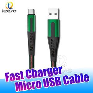 2020 En Yeni Veri Sync Mikro USB Kablo Erişte Düz USB Yüksek Hızlı Şarj Kordon 3 ft Naylon Örgülü Hızlı Şarj Galaxy S20 izeso için